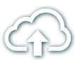 A cloud icon with arrow pointing upwards